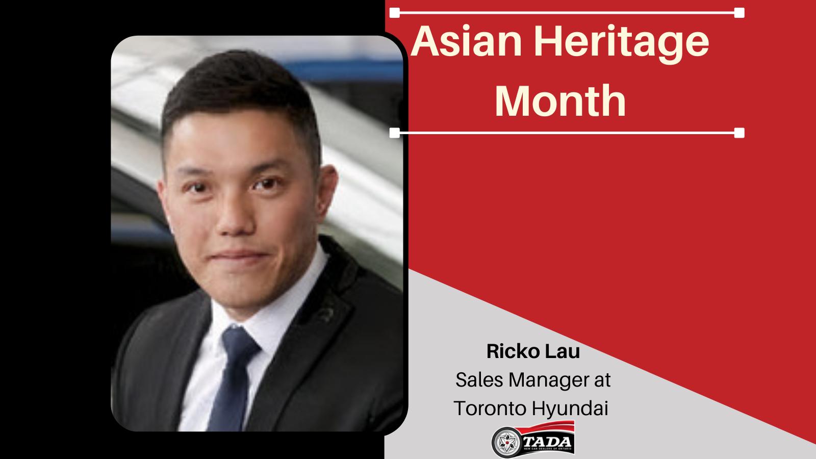 Asian Heritage Month - Ricko Lau: Sales Manager at Toronto Hyundai